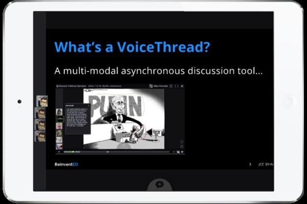 VoiceThread Presentation Visual: a political cartoon
